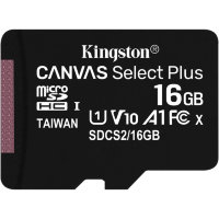 Карта памяти Kingston Canvas Select Plus microSDHC 16Gb UHS-I + ADP (100/10 Mb/s)