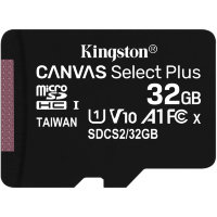Карта памяти Kingston Canvas Select Plus microSDHC 32Gb UHS-I + ADP (100/10 Mb/s)
