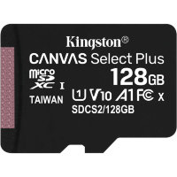 Карта памяти Kingston Canvas Select Plus microSDXC 128Gb UHS-I + ADP (100/10 Mb/s)