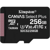 Карта памяти Kingston Canvas Select Plus microSDXC 256Gb UHS-I + ADP (100/10 Mb/s)