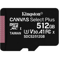 Карта памяти Kingston Canvas Select Plus microSDXC 512Gb UHS-I + ADP (100/10 Mb/s)